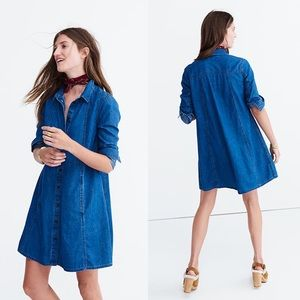 Made well Large Denim Chambrey Dress With Pockets